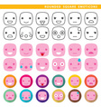 Rounded square emoticons vector image