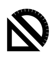 Ruler simple icon vector image