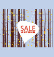 sale autumn on an autumn leaf fall background vector image