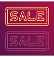 Sale glowing neon sign vector image vector image