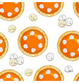 seamless pattern with pumpkin pies and ice cream vector image