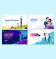 set web page design templates for health care vector image vector image