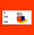 single father raising child website landing page vector image vector image
