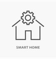 smart home line icon on white background vector image