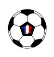 soccer ball and a france map with france flag vector image vector image