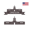 state of oregon vector image
