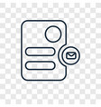 stationery concept linear icon isolated on vector image