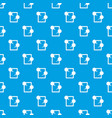 tablet chatting pattern seamless blue vector image vector image