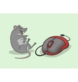 The laughing mouse vector image vector image