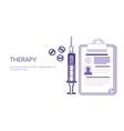 therapy medical treatment business concept vector image vector image