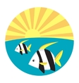Tropical fish flat icon vector image