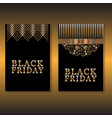 two design of card for black friday vector image