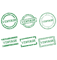 Vintage stamps vector image vector image