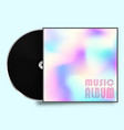 vinyl record plate with colorful cover vector image