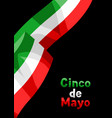 waving mexican flag vector image