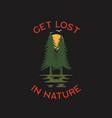 wilderness adventure logo design print forest vector image vector image