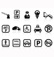 car parking icons vector image