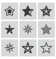 black stars icons set vector image