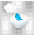 cloud icon with bird vector image