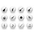 Web buttons musical icons vector image