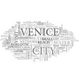 a quick guide to venice text word cloud concept vector image vector image