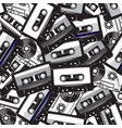 a set different audio cassettes seamless vector image vector image