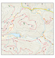 abstract topographic hiking map vector image vector image