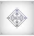 abstract tribal line shape logo frame vector image vector image