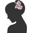 Beauty icon with a rose vector image vector image