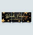 black friday instagram social media sale banner vector image vector image