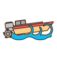 boat tourism travel beach sea wave vector image