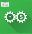 business and finance management icon in flat vector image