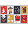 Christmas card set hand drawn style vector image vector image