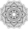 circular pattern mandala for henna mehndi vector image