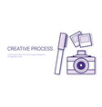 creative process business concept template web vector image vector image