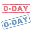d-day textile stamps vector image vector image