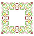 detailed garnished oriental frame vector image vector image