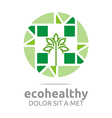 ecohealthy leaves go green design vector image vector image