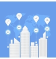 Flat of business city urban landscape vector image vector image