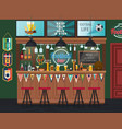 football pub or soccer bar with tv alcohol drinks vector image
