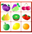 fruit number vector image vector image