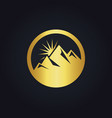 gold mountain abstract icon logo vector image vector image