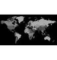 Greyscale world map on black background vector | Price: 1 Credit (USD $1)
