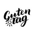 guten tag word hello good day in german vector image