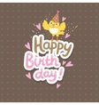 Happy Birthday background with bird vector image vector image