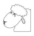 head lamb christmas manger religio vector image