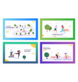 health is human right landing page set lifestyle vector image vector image