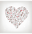 Heart shape floral ornament for your design vector | Price: 1 Credit (USD $1)