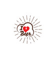 i love beer design vector image
