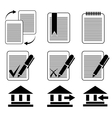 icons 8 vector image vector image